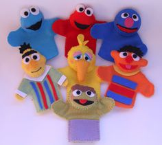 Sesame Street Inspired finger puppets.  This is great for any little fan and the…