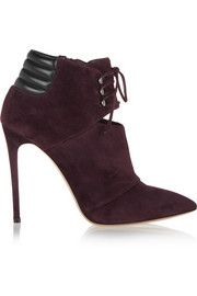 CasadeiLace-up suede ankle boots