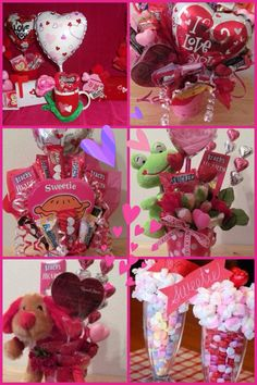 Valentines Candy Bouquets... cute idea for inexpensive Valentine's Day gifts, especially Maddie