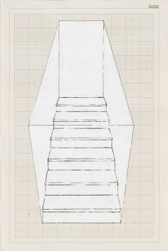 rachel whiteread, Stairs, 6 Steps, Black, 1995