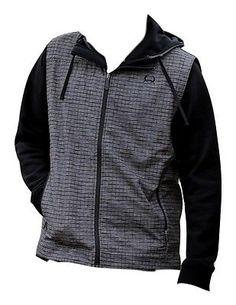 Cinch Western Vest Mens Bonded Logo Pockets Zip Gray MWV1012025