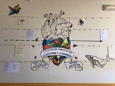 Mural sala de profesores_ Poesía & Dibujo