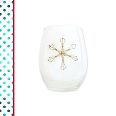 The Prettiest Snowflake Wine Glass perfect for Christmas!