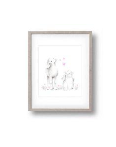 Bunny and Lamb Nursery Art Farm Prints Baby by studioQgallery