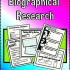 Taking on the huge task of having your students research and write their own Biography for the first time?? All you need is right here!  Included i...