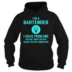 #Bartender I Solve Problem Job Title Shirts, Order HERE ==> https://www.sunfrogshirts.com/Jobs/137081130-1000488863.html?48546, Please tag & share with your friends who would love it, #bartender recipes vanilla vodka, garden for beginners, garden art #ambulance #animals #goat
