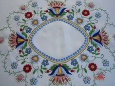 Hungarian Embroidery Patterns Kim Marie's Embroidery — In Poland there is a style of embroidery called. Polish Embroidery, Hungarian Embroidery, Learn Embroidery, Crewel Embroidery, Embroidery Patterns, Machine Embroidery, Modern Embroidery, Stitch Head, Polish Folk Art