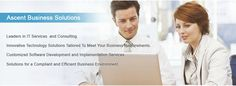 Ascent Business Solutions has firm experience in the development of custom IT solutions.