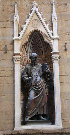 Orsanmichele Chiesa e Museo - Firenze - Tabernacolo dell'arte della Seta - Giovanni Evangelista di Baccio da Montelupo - (copia - originale all'interno del museo) - 1515