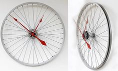 repurposed items | repurposed items for decor / upcycled wheel clock