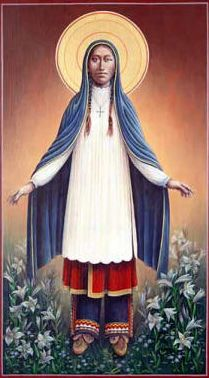 Blessed Kateri Tekakwitha, the first American Indian to be canonized