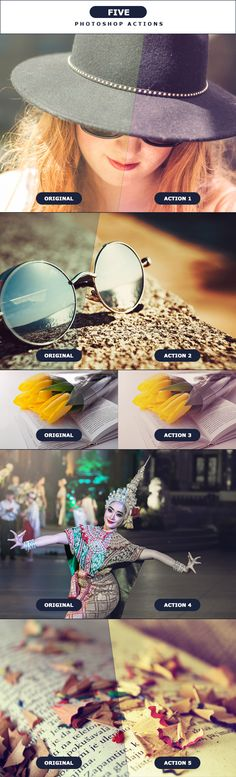 FIVE - Photoshop Actions 3 by PSActionsONLY FIVE �20Photoshop Actions 3Easy to use! Effects for your Photography, Stock, Images etc..Share if your LIKE!