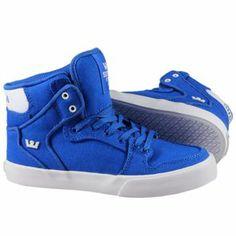 Produit en promotion   Baskets Supra Enfant - Kids Vaider Shoes Royal/White-White