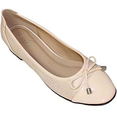 FANTASIA BOUTIQUE FLC006 Valencia Damen Schleife Akzent Patent Lässig Elegant Flache Pumps Ballet Schuhe - Damen, Beige, 3 UK / 36 EU - http://on-line-kaufen.de/fantasia-boutique/36-eu-3-uk-fantasia-boutique-flc006-valencia-damen