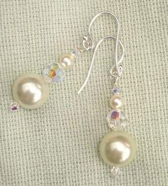 Free Tutorial Perfect Pearl and Crystal Earrings