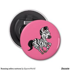 Running zebra cartoon