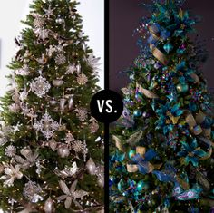Platinum Christmas tree vs. Peacock Christmas tree