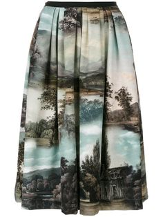 48af6e49 Shop online Antonio Marras Landscape pleated midi skirt for Discover new  season items from the world's best luxury designer brands.