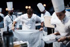 Sebastian gibrand, candidate of Team Sweden, getting ready for the contest. #bocusedor #roadtolyon Bocuse Dor, Sweden, Chef Jackets, Europe