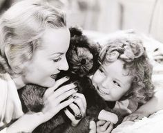 Shirley Temple and Carole Lombard in Now and Forever, 1934.
