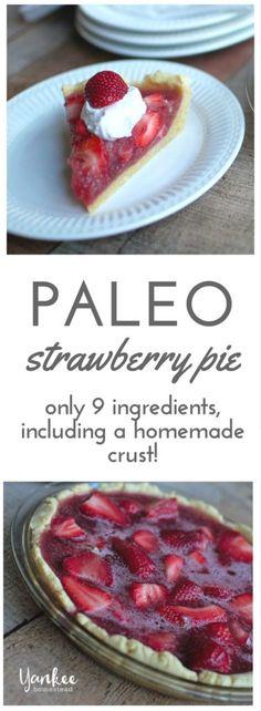 Paleo Strawberry Pie with Grass Fed Gelatin | Yankee Homestead