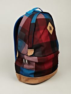 The North Face Back to Berkeley Backpack in red / blue plaid at oki-ni
