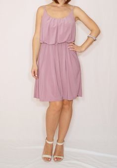 Light purple dress Lilac Bridesmaid dress Short dress by dresslike