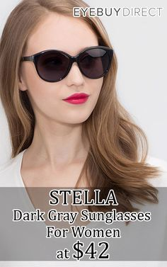 8d79c3ab31d88 You can buy STELLA Dark Gray Sunglasses for Womens just at  42 from  eyebuydirect.com