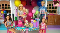 Barbie plans a surprise birthday party for her baby sister chelsea! They decorate the barbie house with balloons, cake party hat and lot of surprise gifts!. ...
