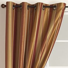 Look At This For Kitchen Laundry Door Gold Imperial Stripe Grommet Curtain World Market