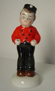 lovely old porcelain figurine bellboy Heubach by Hotlavabeach, £14.50