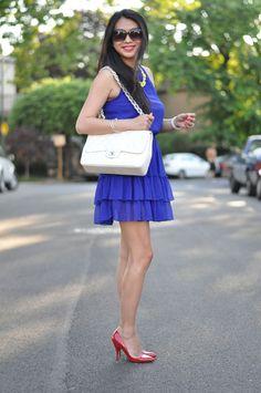 Zara Cobalt, Chanel Bag, Louboutin Pumps