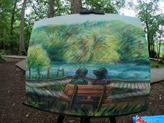 石神井公園で描き描き   守時はるひ Aquarium, Park, Artwork, Goldfish Bowl, Work Of Art, Auguste Rodin Artwork, Aquarium Fish Tank, Parks, Artworks