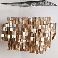 gilded capiz chandelier – color of the month october 2012 – golden ...