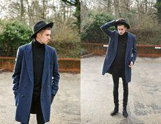 Topman Puritan Hat, Topman Roll Neck Jumper, Topman Oversized Lux Coat