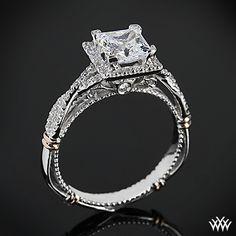 Verragio Princess Halo Diamond Engagement Ring from the Verragio Parisian Collection. #verragio #whiteflash