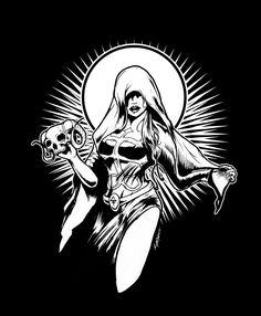 Satanic Witch by luvataciousskull on DeviantArt Human Painting, Dark Beauty, Satan, Heavy Metal, Witch, Darth Vader, Skull, Creatures, Deviantart
