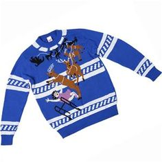 Granny Got It Ugly Christmas Sweater-FunQi, Blue (Medium) - Really Ugly Christmas Sweaters Christmas Tops, Blue Christmas, Ugly Christmas Sweater, Easy Halloween Costumes, Christmas Costumes, Men's Costumes, Cool Suits, Suits You, Jack Skellington Costume