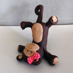 Custom Monkey Cake Topper for Birthday or Baby Shower by carlyace