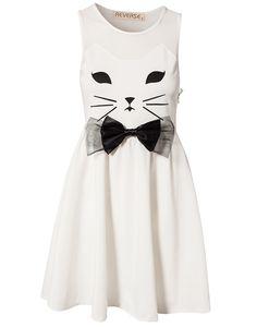 Cat Dress - Reverse - Creme - Festklänningar - Kläder - NELLY.COM