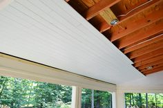 The oak house project renewing a porch ceiling with fascia design porch pinterest porch for Exterior beadboard porch ceiling