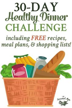 This Healthy Dinner Challenge includes free meal plans, recipes, and shopping lists to make nutritious eating easy! The perfect way to start a healthy New Year! Eating Fast, Clean Eating Snacks, Healthy Eating, Healthy Sweet Snacks, Healthy Food List, Dinner Healthy, Healthy Shopping, Shopping Lists, Diet Recipes