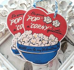 Vintage Pop Corny Question Valentine Tags  by LittlePaperFarmhouse, $3.95