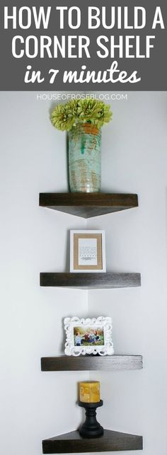 10-Minute Amateur Friendly Corner Shelf Project