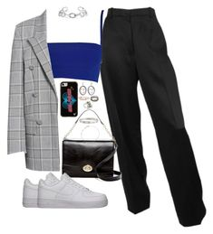 """dreams -"" by ohsnapitzblanca ❤ liked on Polyvore featuring Versace, NIKE, Alexander Wang, Cole Haan, Jennifer Fisher, Wildflower, MANGO, Loree Rodkin, Alexander McQueen and Astley Clarke"