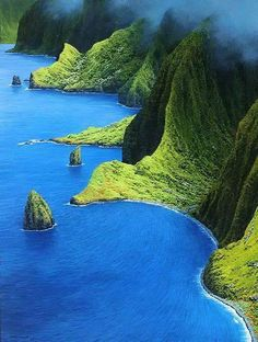 Molokai, Mist Over the Mountains, Hawaii From Amazing Things on Facebook