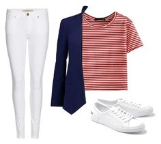 """""""Blazer & Jeans"""" by dana-debanks ❤ liked on Polyvore featuring WithChic, Rebecca Minkoff, Lacoste and Burberry"""