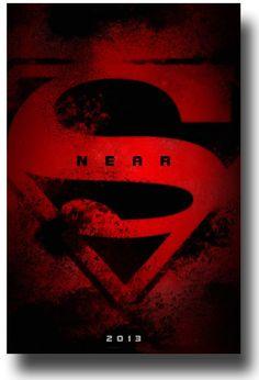 Man of Steel Movie Poster - 2013 Movie #HenryCavill #Superman