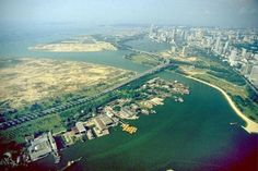 c1980s - A bird's eye view of the Geylang River mouth.