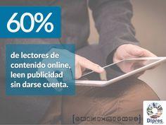 ¿Sabías que?  #porcentaje #información #publicidad #online #marketing #mty